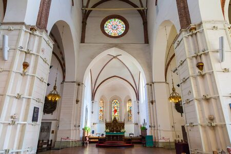 riga: Riga, Latvia - 25-August-2015: interior of Riga Cathedral. Riga, Latvia.