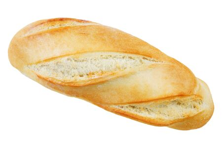 french bread: Freshly baked baguette isolated on white