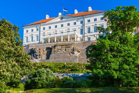 Estonian government building (Stenbock House) on Toompea hill in old Tallinn city, Estonia. Editorial