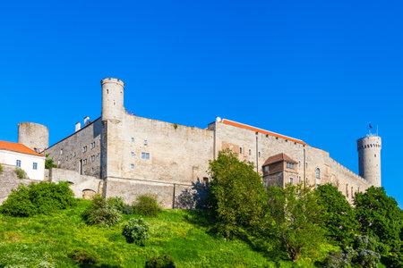 castello medievale: Medievale Castello di Toompea, nel centro storico della città, Tallinn, in Estonia. Editoriali