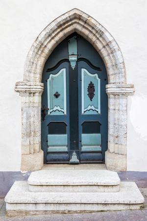 old doors: Vintage door in old Tallinn city, Estonia Stock Photo