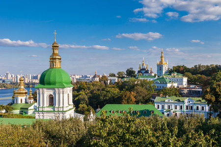 Kiev Pechersk Lavra. Orthodoxe Klooster. Kiev, Oekraïne. Stockfoto