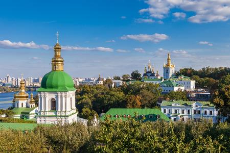 Kiev Pechersk Lavra. Orthodoxe Klooster. Kiev, Oekraïne. Stockfoto - 66950274