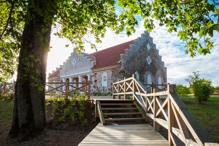 sigulda: Building of Turaida parish magazine. Old granary house in Turaida, Latvia Stock Photo
