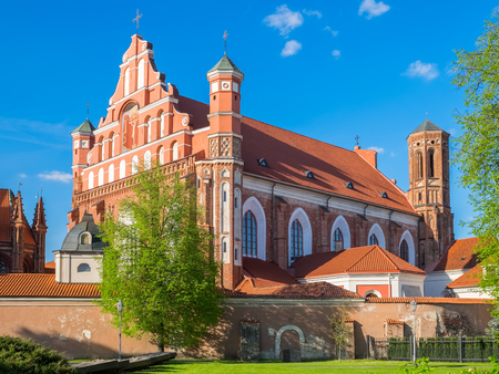 Church of St. Francis of Assisi and St. Bernard, Vilnius, Lithuania. Stock Photo