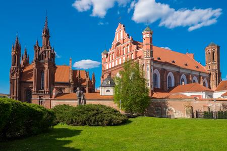 Ensemble of st Anne and Bernardine church at summer. Vilnius, Lithuania.