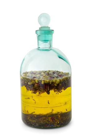 La capsule de base de plantes ou d & # 39 ; une bouteille d & Banque d'images - 95219867