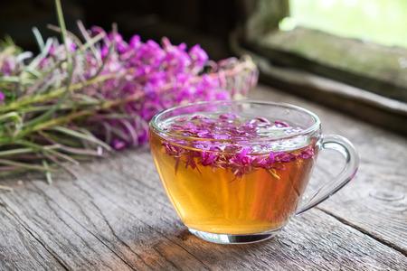 Fireweed healthy herbal tea. Stock Photo