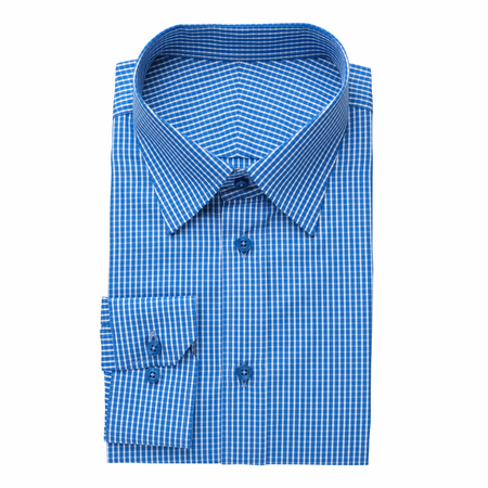 Fashion mens shirt, isolated on white. Stock Photo