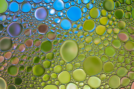 Beautiful abstract water oil bubbles colorful background. Natural backdrop.
