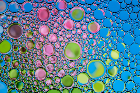 Beautiful background of colored bubbles. Natural backdrop. Stock Photo