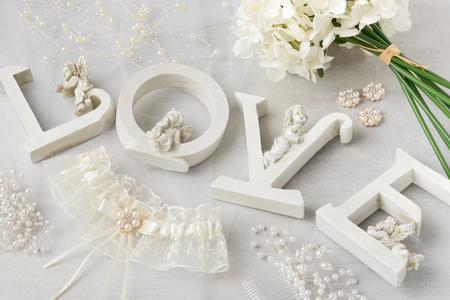 Beautiful wedding decorations. Stock Photo - 120977694