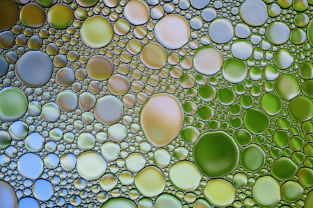 Abstract multicolor water oil bubbles  texture. Colorful background. Stock Photo