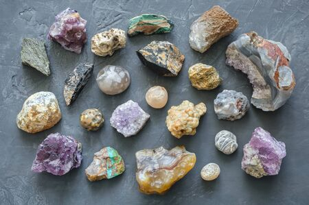 Mineral stones collection Stock Photo