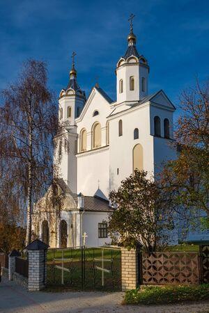 The Cathedral of Holy Martyrs Boris and Gleb in Novogrudok, Grodno region, Belarus.