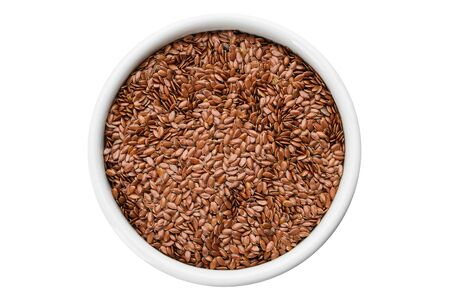 A Bowl of whole flax seeds.