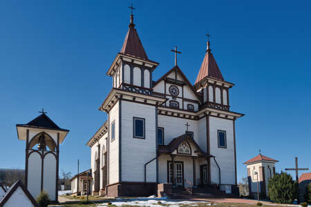 Ancient church of St George in Polonechka village, Brest region, Belarus.