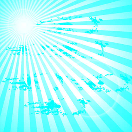 Vector background sun rays with blue and white retro color,vector. Illustration