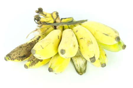 banana skin: Rotten banana isolated on white background. Stock Photo