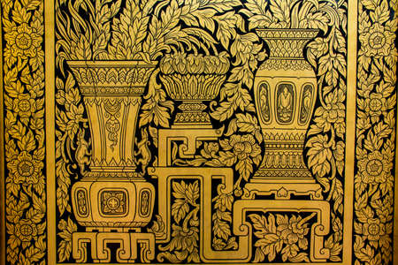 murals: Murals and gilded Wat Suthat Thep Wara Ram.