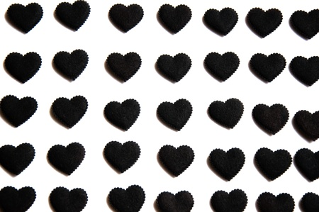 eternally: the black hearts are the symbol that  you will love eternally