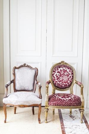 silla de madera: Lujo antigua silla