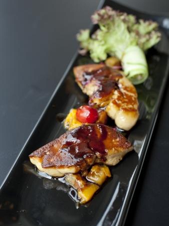 Fried foie gras Banque d'images