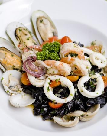 Black italian pasta