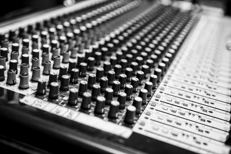 Audio Mixer Channels Stock Photo - 16149384