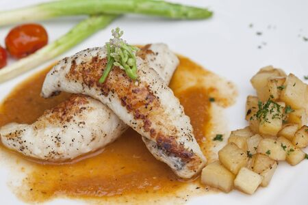 Fish steak with vegetables Stock Photo - 16150190