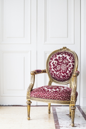 Luxury antique chair  photo
