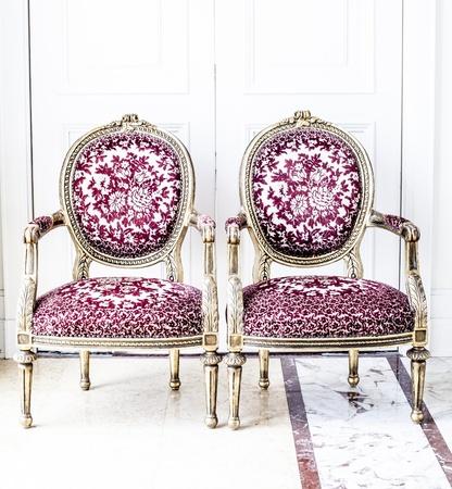 Luxe antieke stoel Stockfoto