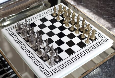 chellange: chess board Stock Photo