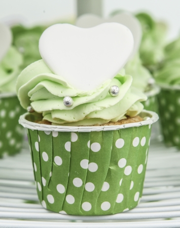 Green cupcake photo
