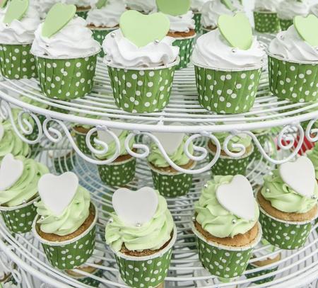 gumpaste: Green cupcake Stock Photo