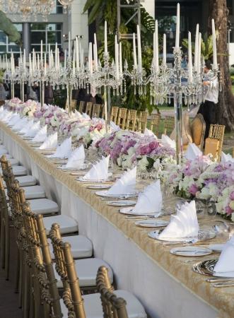 De elegante eettafel
