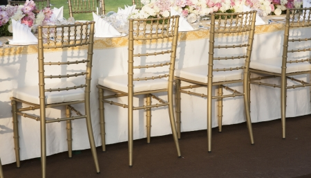 The elegant dinner table