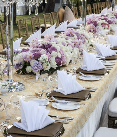 wedding table setting: The elegant dinner table