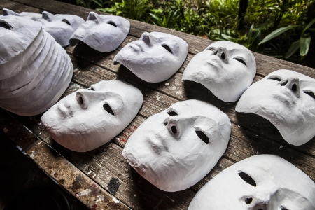 Witte Maskers Stockfoto
