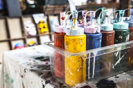 Colorful paints bottles Stock Photo - 18084257