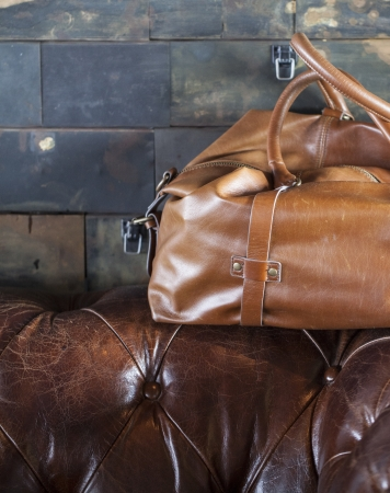 brown leather bag Stock Photo - 18808534