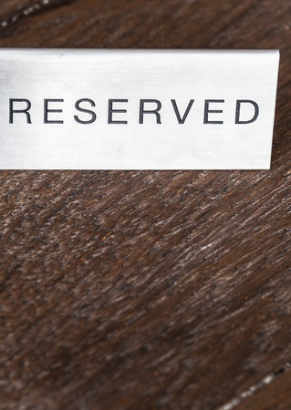 reserved Stock Photo - 18808530