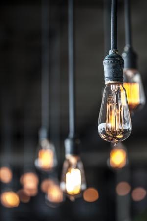 bombillo: Iluminación de decoración Foto de archivo