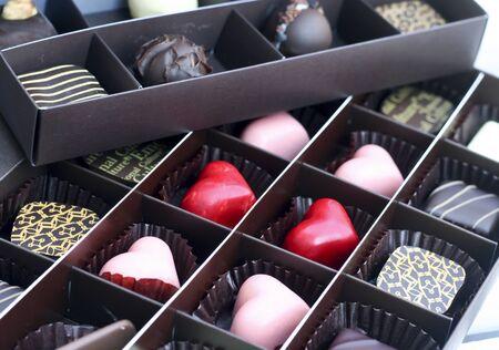 chocolatería: Corazones de chocolate