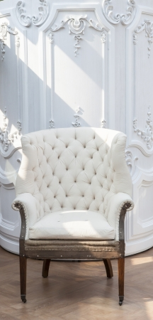 Luxury white chair  Stock Photo - 19455435