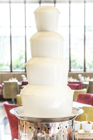 White Chocolate Fountain photo