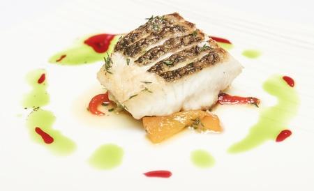 Roast fish steak