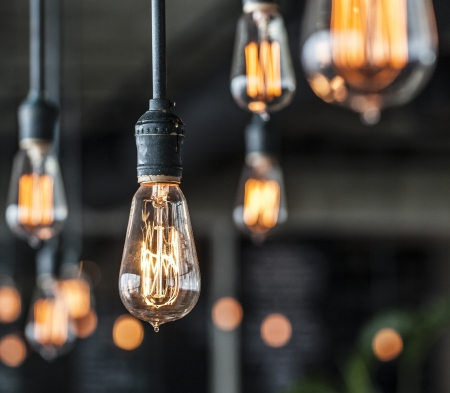 electric bulb: Lighting decor Stock Photo