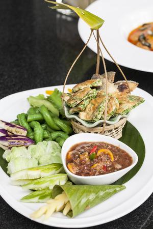 cha-om kai, Acacia Pennata, Omelet Thai Style Stock Photo - 22582609