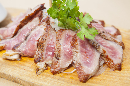 Grilled Kobe Miyazaki beef decorate Stock Photo - 22582641
